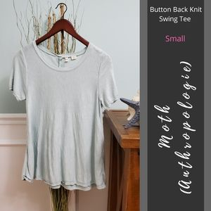 Moth (Anthro) | Button Back Knit Swing Tee